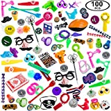 Carnival Prizes Toys Assortment for Prizes - Party Favors for Kids - 100 PC Toy School Rewards - Carnival Party Supplies Tigerdoe (Carnival Prizes)