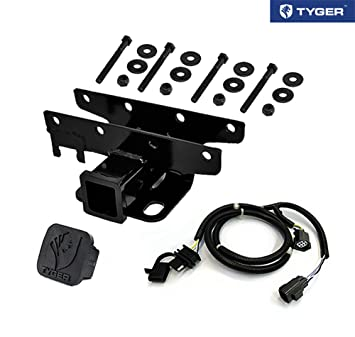 61039cpNNdL._SX355_ amazon com tyger towing combo 2inch receiver hitch & wiring jeep wrangler tow vehicle wiring harness at gsmportal.co