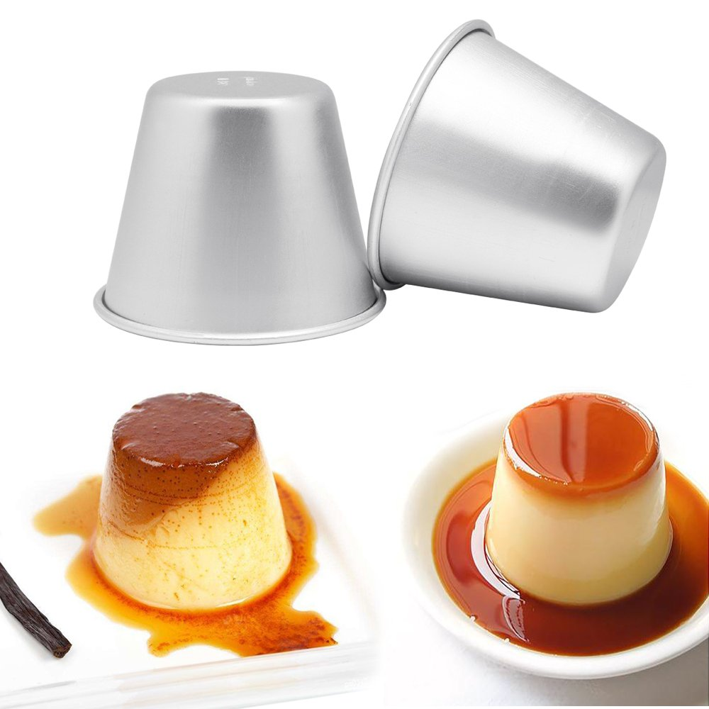 Homgaty 10 X Mini aluminio Pudding Cuencas moldes para DIY de cocción (Set de 10): Amazon.es: Hogar