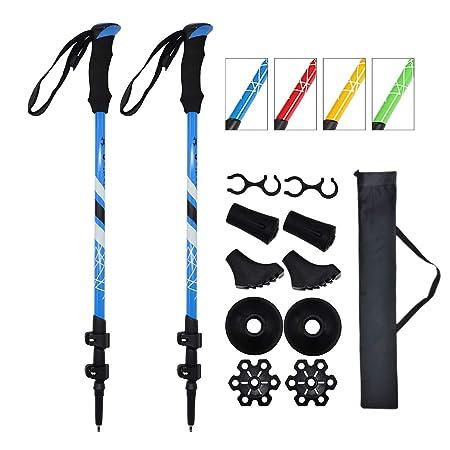 mountain conqueror Trekking Poles 7075 Aluminum Adjustable Hiking Walking Climbing Quick Flip Lock Poles Stick 2-pc Pack