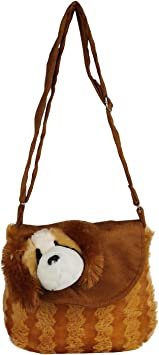 Flap Dog Cartoon Bag for Kids/Baby/Boys/Girls (Brown) by The Lovely Toys