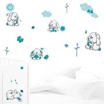 JUJU & COMPAGNIE Kit complet de stickers Muraux, pour chambre d ...