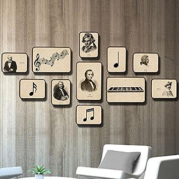 Musica Foto AN DER Wand la parete camera da letto il Piano di nero e ...