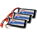 Combo: 3pcs of Tenergy 30C 7.4 V 2200mAh Replacement LiPO Battery for Syma X8C X8W X8G