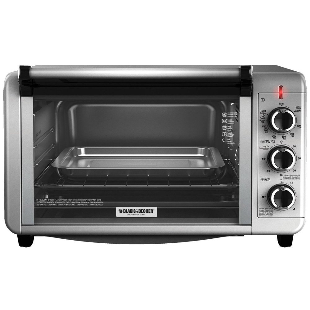 BLACK+DECKER TO3210SSD-CL 6-Slice Toaster Oven 220-240 Volts 50/60Hz Export Only Medium Silver
