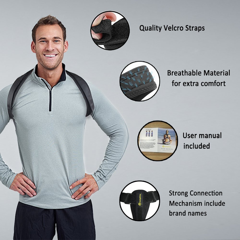 Back Posture Corrector for Women Men Kids, Back Brace,Clavicle Brace,Effective and Comfortable Posture Brace,The Elastic Design of The Back are More Comfortable and Convenient Than The Old Ones.  by dobigthing (Image #4)