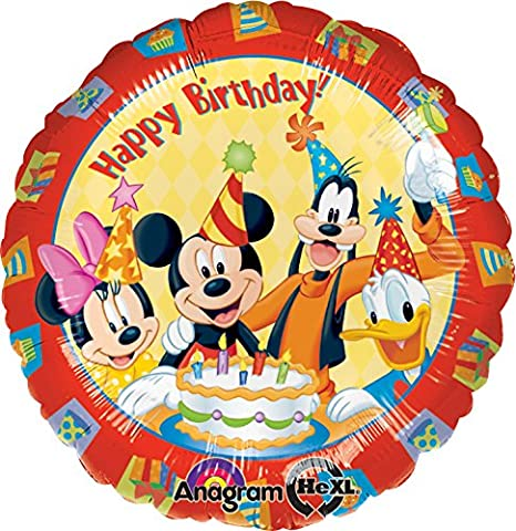 Anagram International 922301 Mickey and Friends Birthday Foil Balloon, 18
