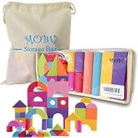 MOBU Soft Building Blocks Toys 50 Pieces Creative Safe Bright Color EVA Foam Brick Set Educational DIY Foam Building…