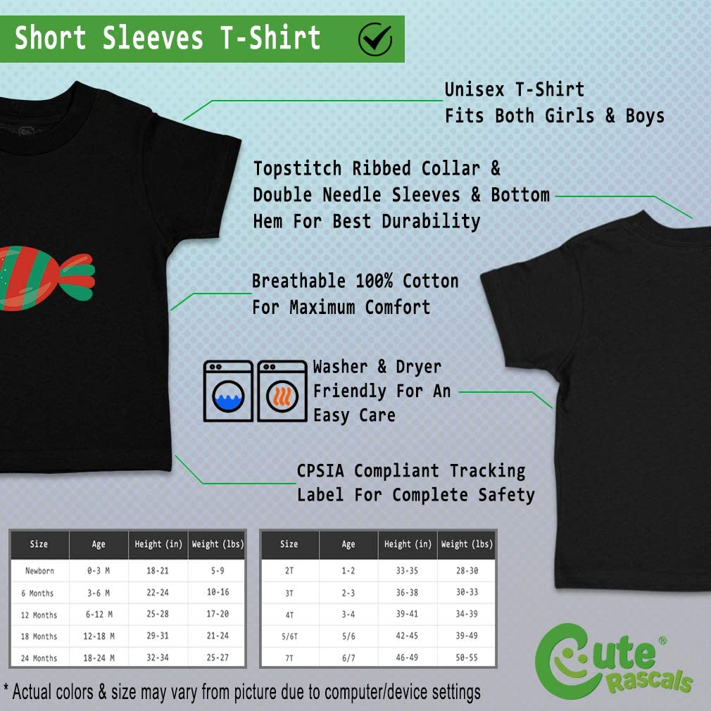 Custom Baby /& Toddler T-Shirt Oval Candy Red Green Cotton Boy Girl Clothes