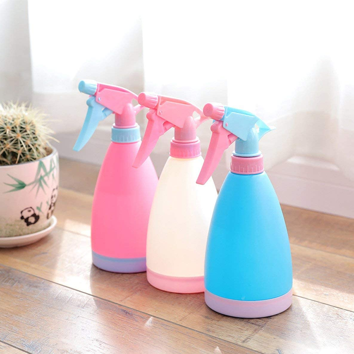 Shengerm Candy Color Gardening Home Watering Can Pneumatic Watering Flower Small Spray Bottle Sprayer Watering Spray Bottle