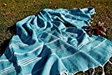 Petrol Green 100% Cotton Prewashed Bath & Beach Towel Turkish Towel Gym Towel Fouta Fitness Pool Yoga Spa Backpacking Camping Swimming Picnic Blanket