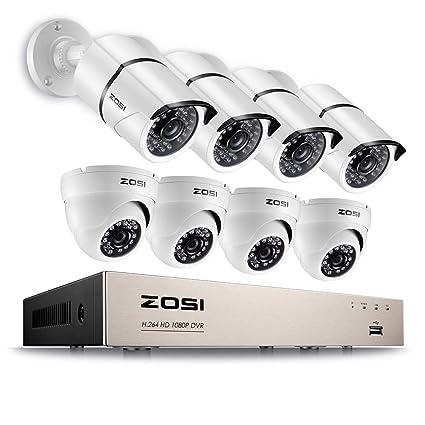 ZOSI 8 ch DVR de seguridad Home CCTV sistema de cámaras de vigilancia con 8 al