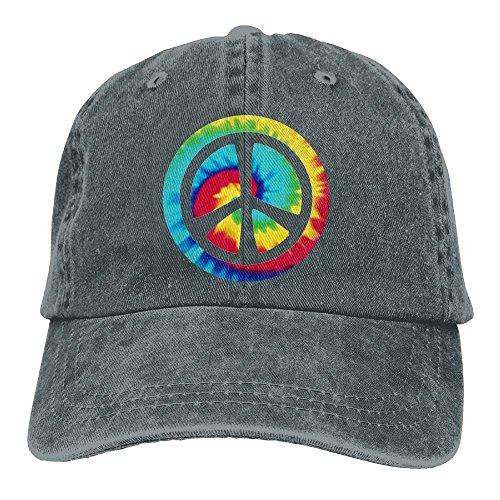 - Docaphat-7 Baseball Cap for Men and Women, Tie Dye Peace Sign Design and Adjustable Back Closure Street Rapper Hat
