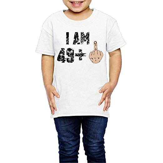 50th Birthday Gift Ideas Novelty Kids Boys Girls Crewneck Short Sleeve Shirt Tee Jersey 2