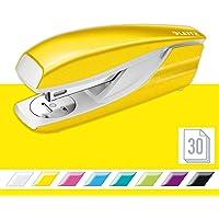 Leitz 55021001 - Grapadora de 30 hojas (cuerpo de metal ergonómico, incluye grapas, gama WOW), color amarillo