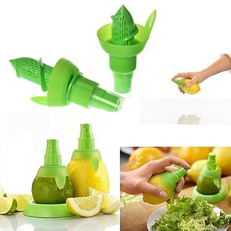 Secreto muñeca 2pcs Cocina Extractor de zumo de naranja, lima, pulverizador exprimidor limón frutas