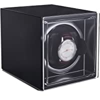 Single Watch Winder Black with 4 Rotation Mode Setting for Rolex bf4011ba8b
