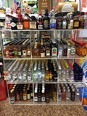 amazon com commercial retail display for mini sampler 50ml liquor