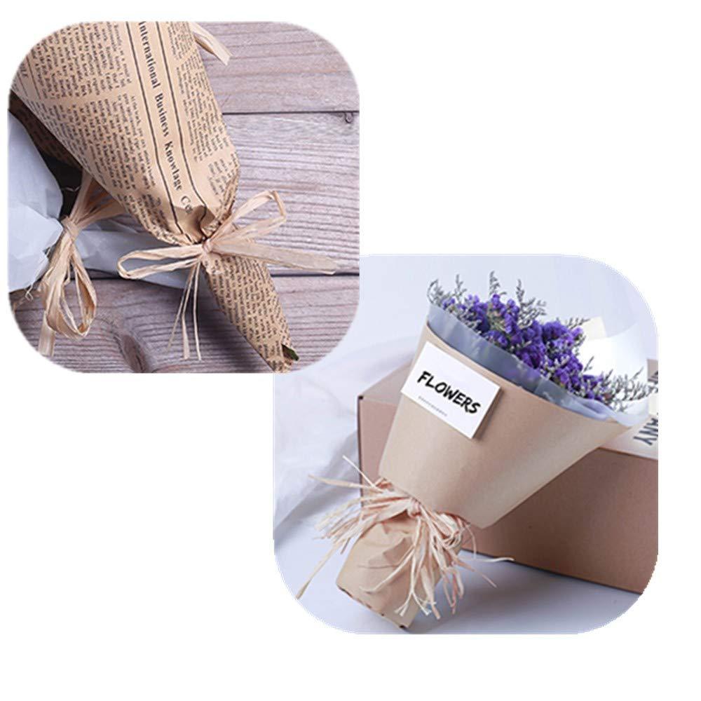 Fournitures de Bricolage Bouquets de Fleurs HRX Package Ruban en Papier Raphia 218 m x 6,35 cm de Largeur pour Cadeaux Emballage de /étiquettes /à Suspendre Kraft