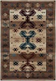 Cheap Rizzy Home BV3705 Bellevue Power-Loomed Area Rug, 7-Feet 10-Inch by 10-Feet 10-Inch, Southwest, Beige