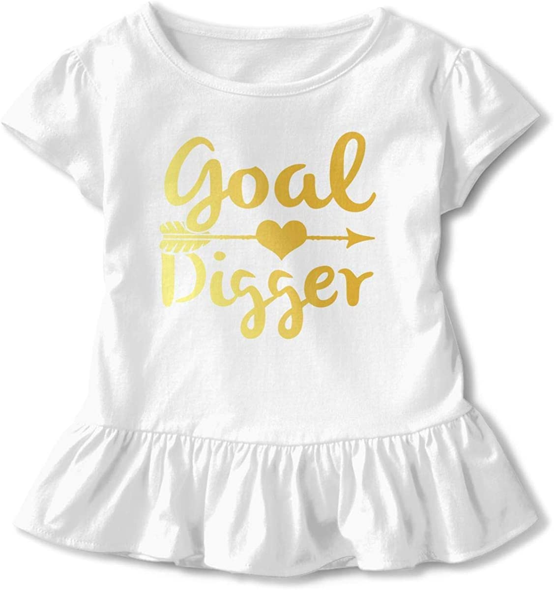 HelloWorlduk Toddler Baby Girl Goal Digger Funny Short Sleeve Cotton T Shirts Basic Tops Tee Clothes