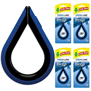 Little TreesCar Air Freshener | Fresh Link Provides a Long-Lasting Scent for Auto or Home | Clips Anywhere | New Car Scent, 4-Pack