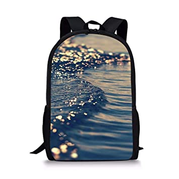 Image Unavailable. Image not available for. Color  DBGFbackbagYU Blue Ocean  Pattern Cute Print School Backpack For Boys ... e0c7686a67c1f