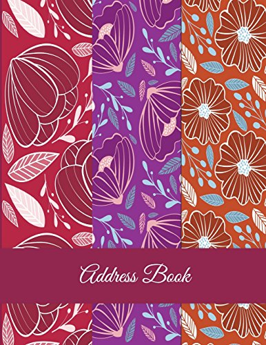Address Book: Red Color Flowers, Address Book with Tabs Book large print 8.5 x 11 Organizer & Address Book for Phone Numbers, Email Contact, Birthdays & Alphabetical Organizer Journal Notebook Rose & Sky Planners
