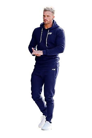 848f6481bf4b7 Aspire Wear Juego de Sudadera con Capucha y Top de chándal Azul Marino  Hombre - Fitness