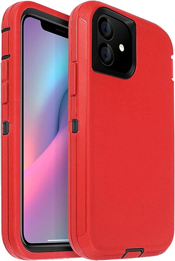 Apple Funda de silicona para iPhone 11-Rojo en Embalaje Original