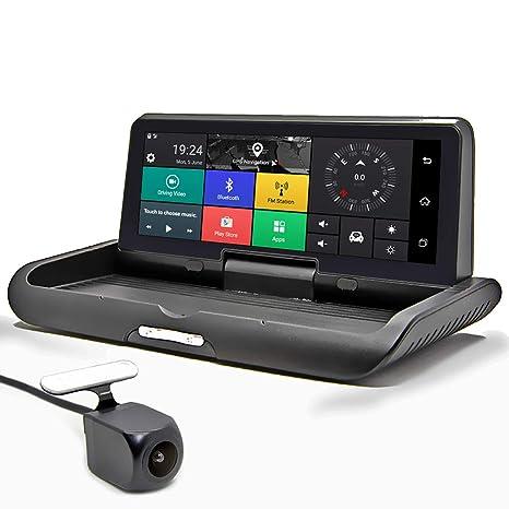HRRH Grabador de DVR para Coche, 8 Pulgadas 4G Android DVR Full HD ...