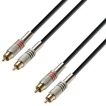 Adam Hall K3TCC0600 - Cable de audio (6 m, 2 conectores RCA macho a