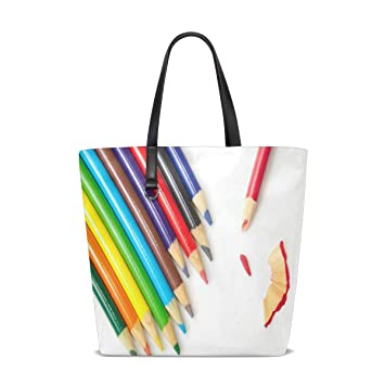 Amazon.com | Colored Pencils Tote Bag Purse Handbag Womens ...