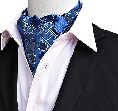 Men's Business Cravat Ascot Scarves Stylish Jacquard Pattern Wedding Party Ties