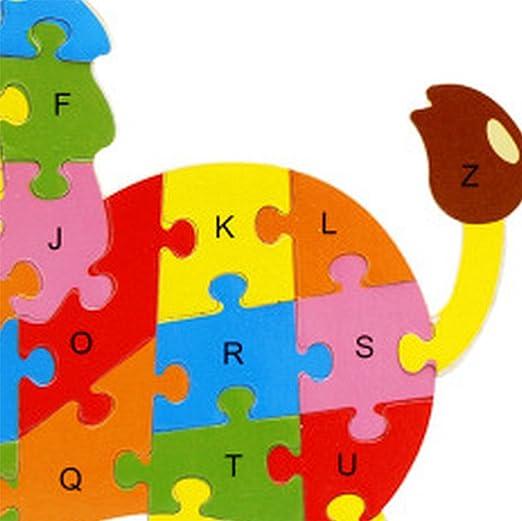 Ruikey León 26 alfabeto rompecabezas niños de educación temprana juguete cognitivo: Amazon.es: Juguetes y juegos