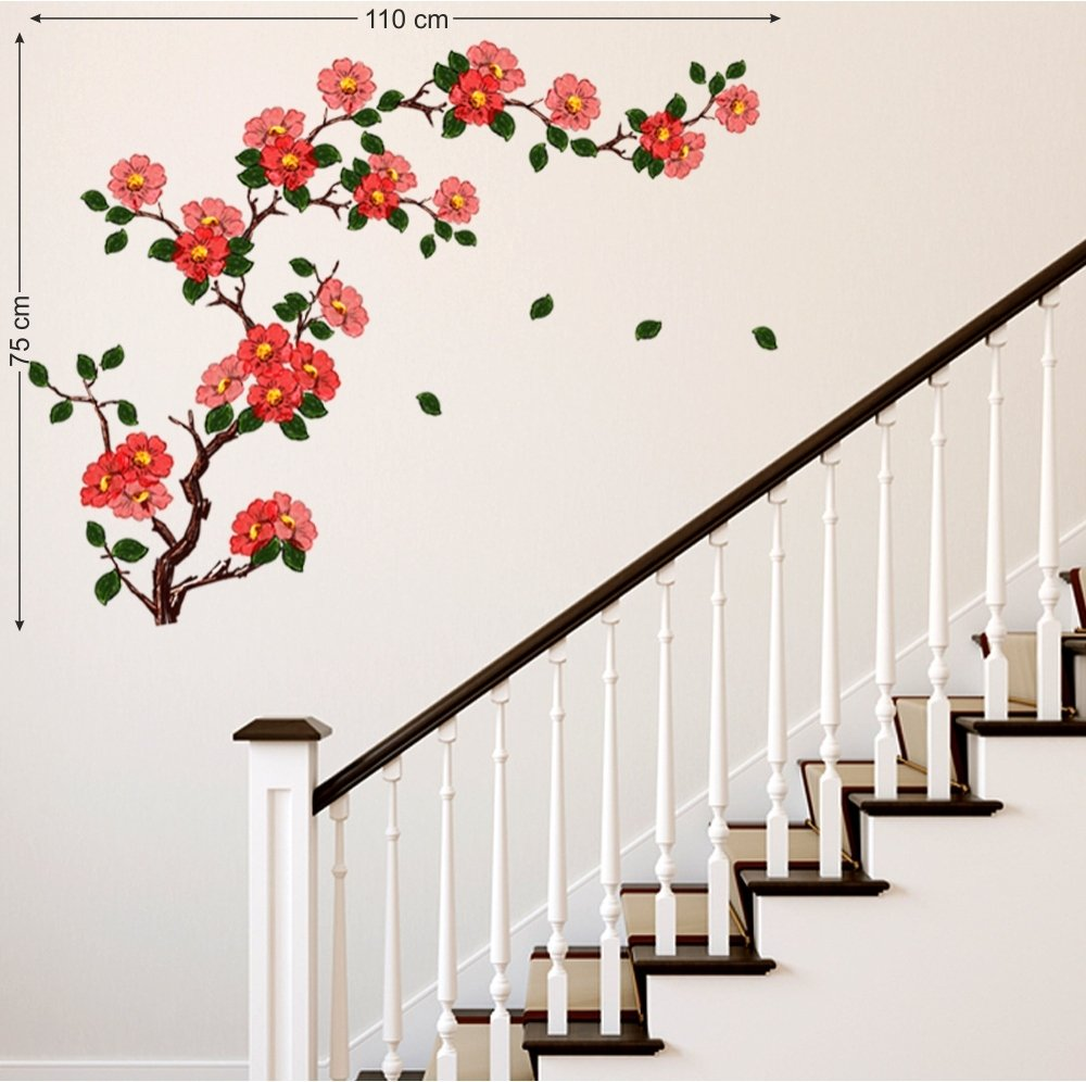 Buy decals design floral branch antique flowers wall sticker buy decals design floral branch antique flowers wall sticker pvc vinyl 50 cm x 70 cm online at low prices in india amazon amipublicfo Gallery