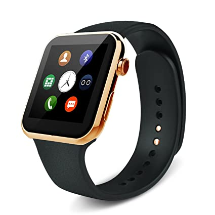 Sudroid Smartwatch A9 Bluetooth Smart Watch for Apple Iphone & Samsung Android Phone Relogio Inteligente Reloj Smartphone Watch (gold)