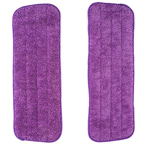 - Vorfreude Spray Mop Microfibre Pads 2 Pack of Lifetime Replacement Guaranteed 1000x Machine Washable Reusable 25cm x 40cm Wipes for Cleaning Dry or Wet Floors. Easy Wash and Reuse (2 Total)