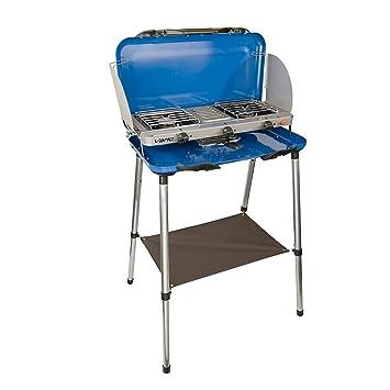Campingaz Camping Vario Deluxe - Cocina portátil con 2 fuegos para camping (azul)