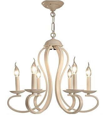 Kronleuchter Kerzen White Leuchter Pendelleuchte American Style 6 Flammig Schmiedeeisen Mediterrane Weiss Fr Wohnzimmer Eisen