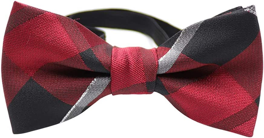 owhelmlqff Children Kids Toddler Boys Girls Pre Tied Bow Tie Necktie Wedding Party Decor Available Pre Tied Elastic for Party or Wedding 21#