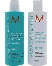 Moroccanoil Moisture Repair Shampoo & Conditioner Combo Set (8.5 oz each, 250 ml)