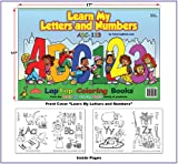 Learn My Letters and Numbers (17 X11 ), Really Big Coloring Books Staff, 1935266012