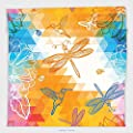Vipsung Microfiber Ultra Soft Hand Towel-Batik Decor Geometric Triangles With Sketches Of Birds Butterfly Ladybug And Dragonfly Pattern Multi For Hotel Spa Beach Pool Bath