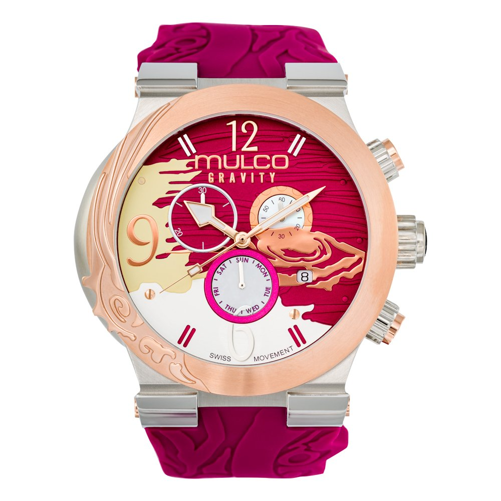 Mulco MW5-3567-523 Gravity Jupiter Swiss Chronograph Fuchsia Watch by MULCO