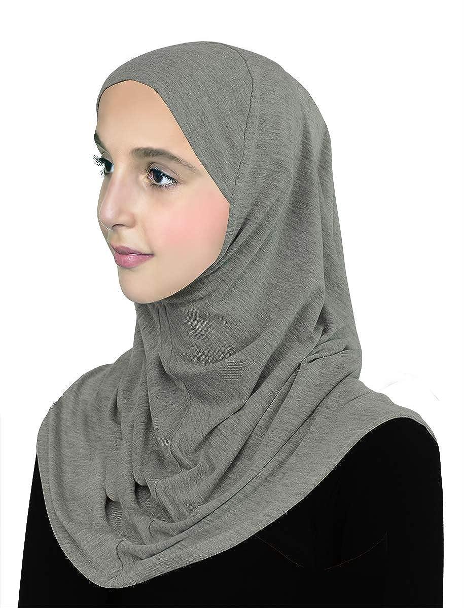 Pre-Teen Girls Instant Hijab Cotton One piece Amira Head Scarf