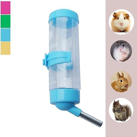 Luniquz 125ml PET Drinking colgar Dispensador de botellas de agua para conejos, y otros pequeños