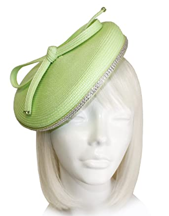 Mr. Song Millinery Profile Dish Beanie Fascinator Headband - Light Green  SF59 12ae4aff720