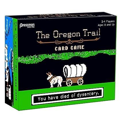 amazon com the oregon trail card game by pressman toy toys games