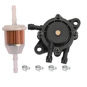 HIPA Fuel Pump + Fuel Filter for John Deere D100 D105 D110 D120 D125 D130 D140 D150 D155 D160 D170 Garden Lawn Mower